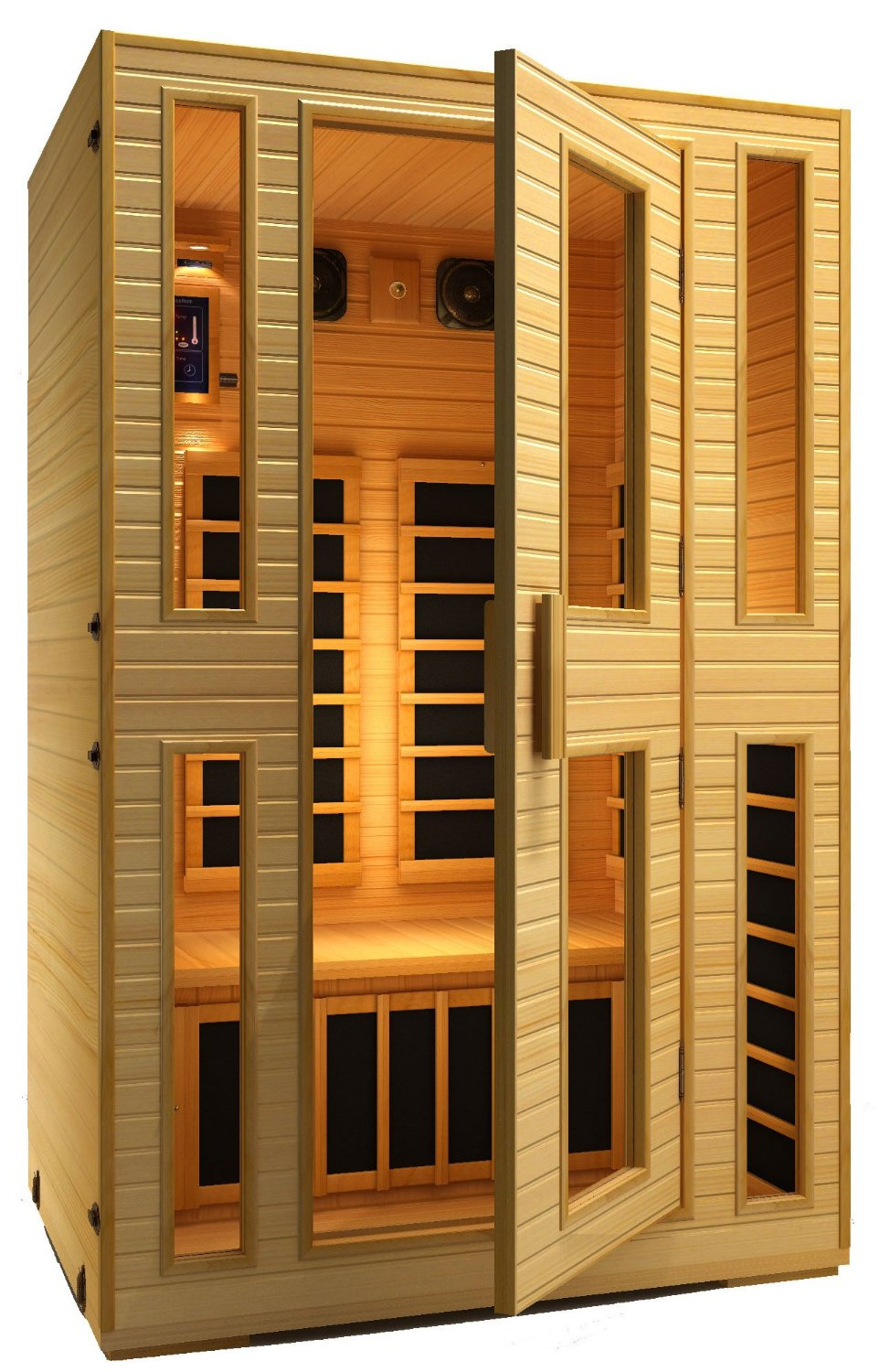 jnh lifestyles 2 person far infrared portable sauna review. Black Bedroom Furniture Sets. Home Design Ideas