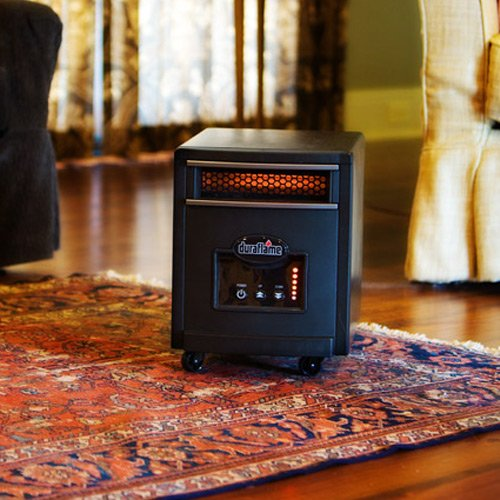Duraflame 1500 Watt Quartz Heater, Black, in room