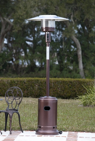 Fire Sense Hammer Tone Bronze Commercial Patio Heater
