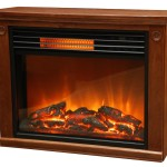 Infrared Fireplace By Lifesmart Heats 1000 Sq Feet, W/ Flames
