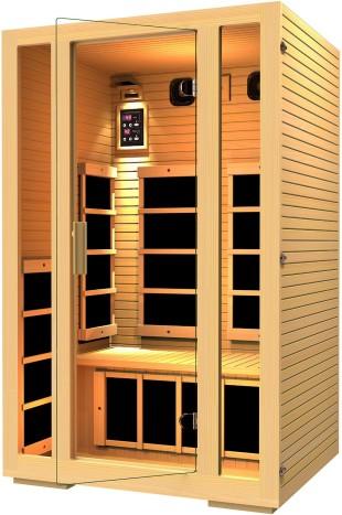 portabel infrared sauna, JNH Lifestyles 2 Person Far Infrared Sauna 7 Carbon Fiber Heaters