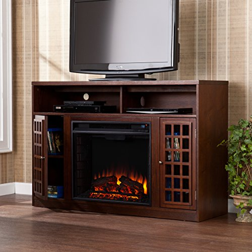 This Is Another Great Energy Efficient Electric Fireplace TV Stand For  Those Who Prefer To Have All In One Media Consoles For Looks.