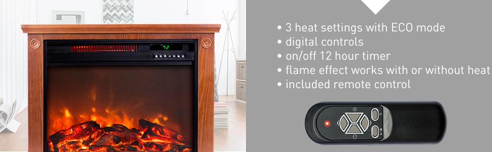 Top 7 Infrared Fireplace Heaters Enjoy The Look Of A Log