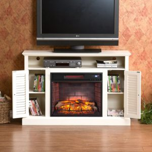 energy efficient electric fireplace tv stand