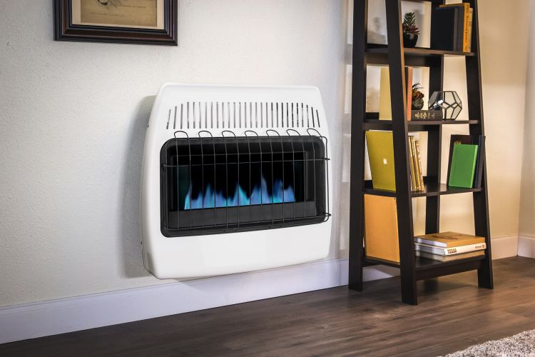 An example of a Propane Heater within a house